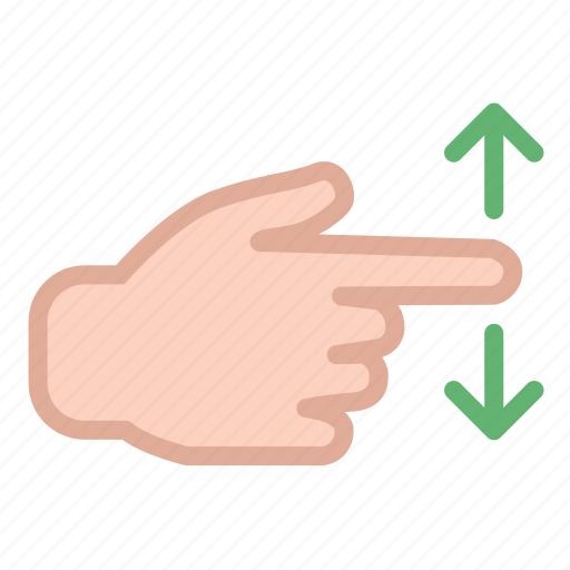arrow, finger, hand, move, screen, swipe, touch icon