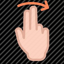 arrow, finger, hand, swap, swipe, up icon