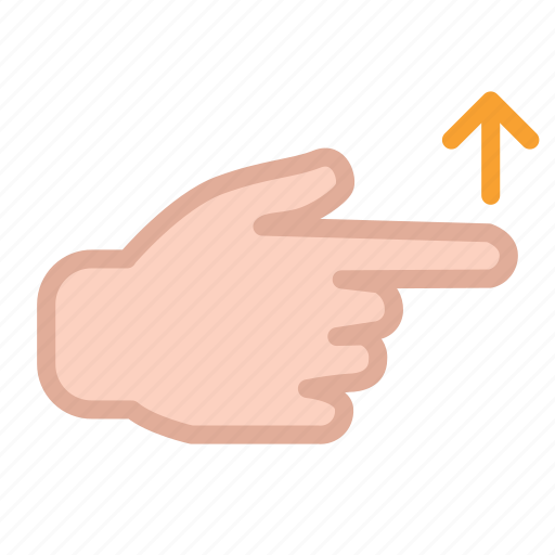 arrow, finger, hand, screen, swipe, touch, up icon