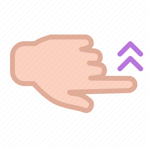 finger, hand, screen, swipe, touch, up icon