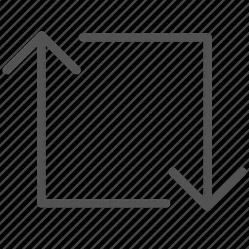arrow, follow, repeat, square icon