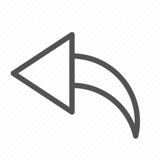 arrow, left, reply, sign icon