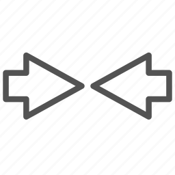 arrow, left, right icon