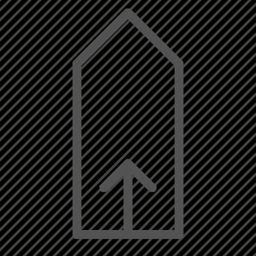 arrow, tag, up icon