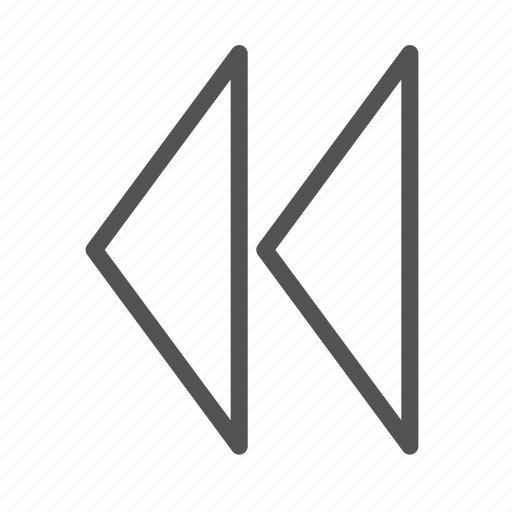 fastforward, left, sign icon