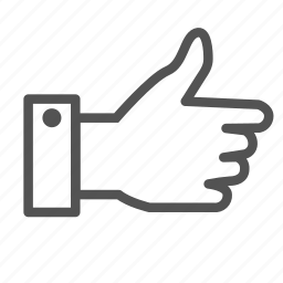 approved, finger, hand, ok, up icon