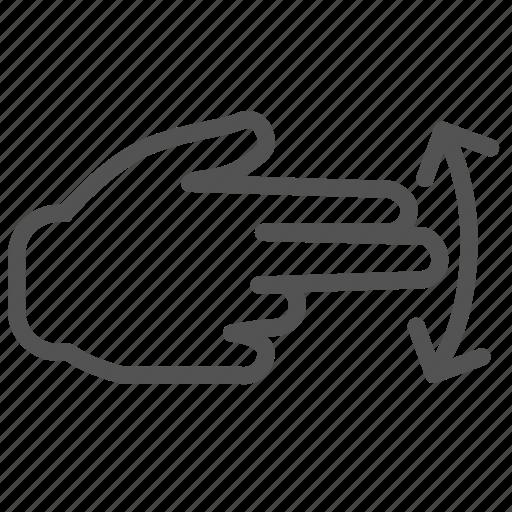 arrow, finger, hand, right, swap, swipe icon
