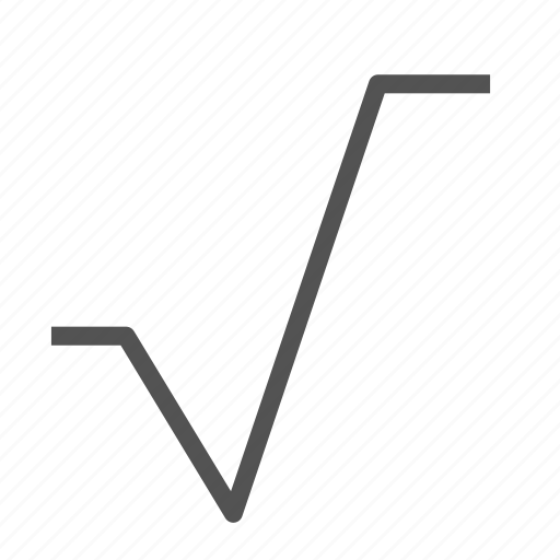 math, mathematics, radical, sign icon