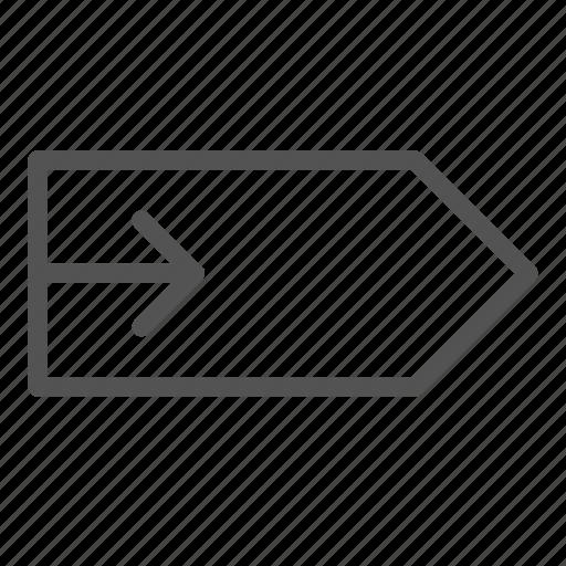 arrow, right, tag icon