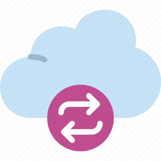 action, app, cloud, interaction, interface, sync icon
