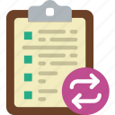 action, app, clipboard, interaction, interface, sync icon