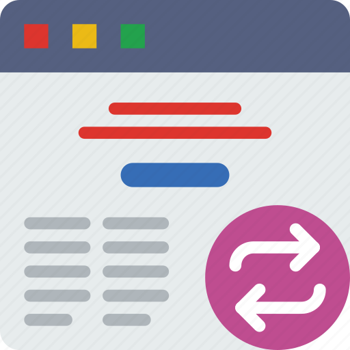 action, app, browser, interaction, interface, sync icon