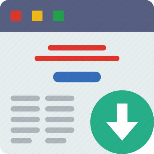 action, app, browser, download, interaction, interface icon