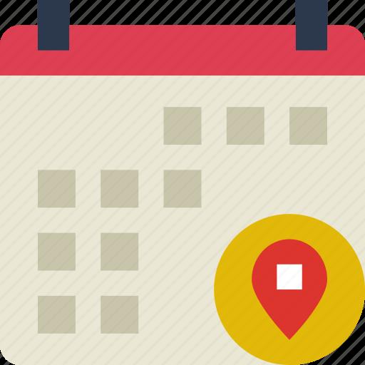 action, app, calendar, interaction, interface, location icon