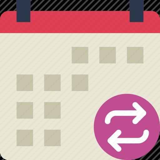 action, app, calendar, interaction, interface, sync icon