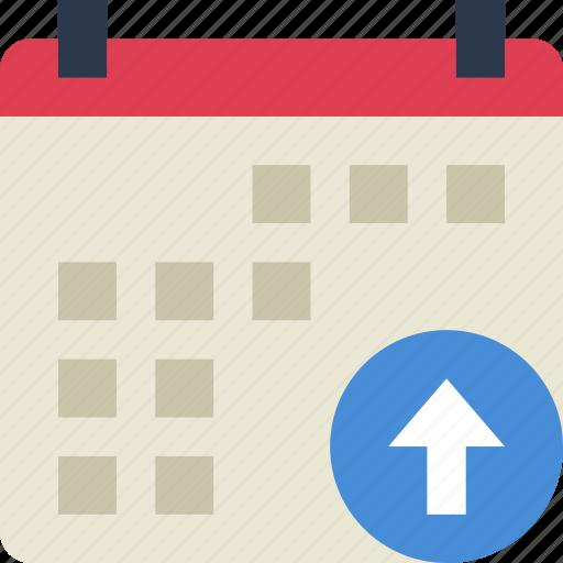 action, app, calendar, interaction, interface, upload icon