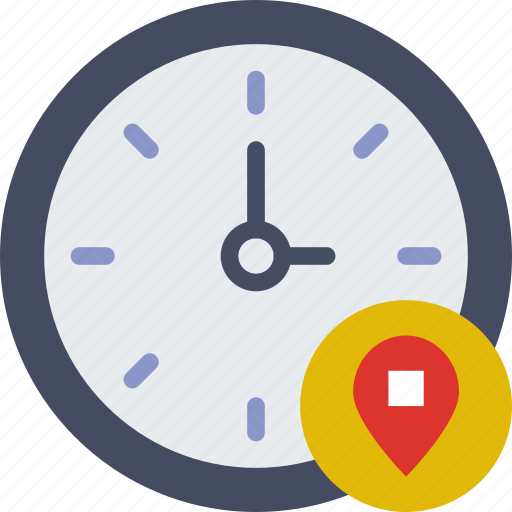 action, app, clock, interaction, interface, location icon