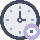 action, app, clock, hide, interaction, interface icon