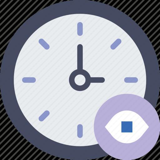 action, app, clock, hide, interaction, interface icon