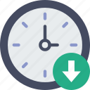 action, app, clock, download, interaction, interface icon