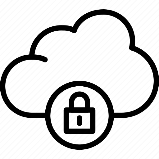 action, app, cloud, interaction, interface, lock icon