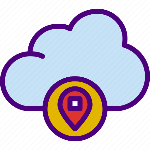 action, app, cloud, interaction, interface, location icon