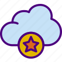 action, app, cloud, favorite, interaction, interface icon