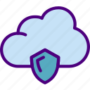 action, app, cloud, interaction, interface, security icon