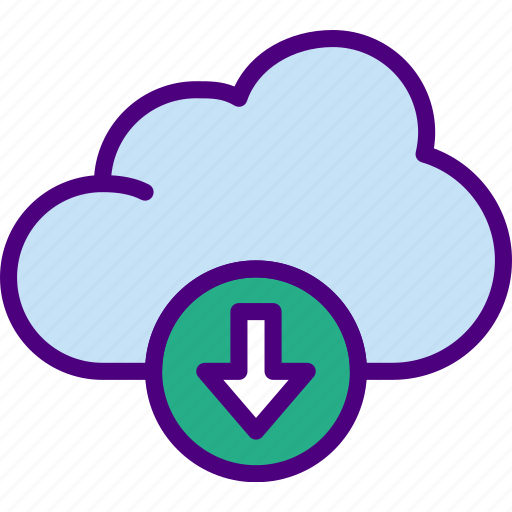 action, app, cloud, download, interaction, interface icon