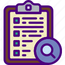 action, app, clipboard, interaction, interface, search icon
