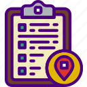 action, app, clipboard, interaction, interface, location icon