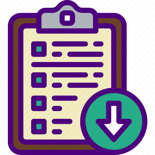 action, app, clipboard, download, interaction, interface icon