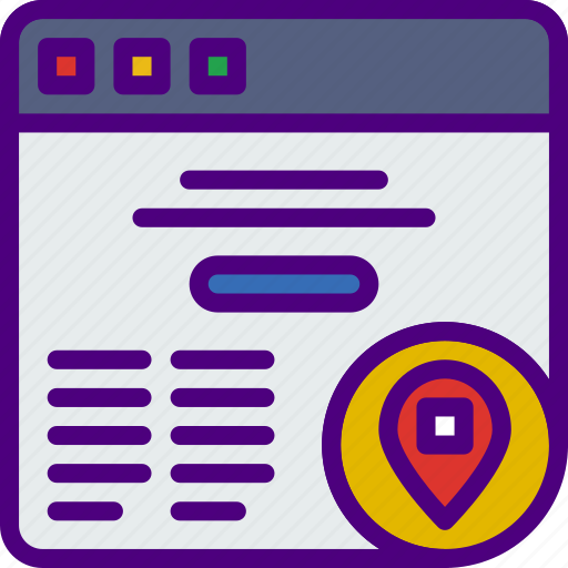 action, app, browser, interaction, interface, location icon