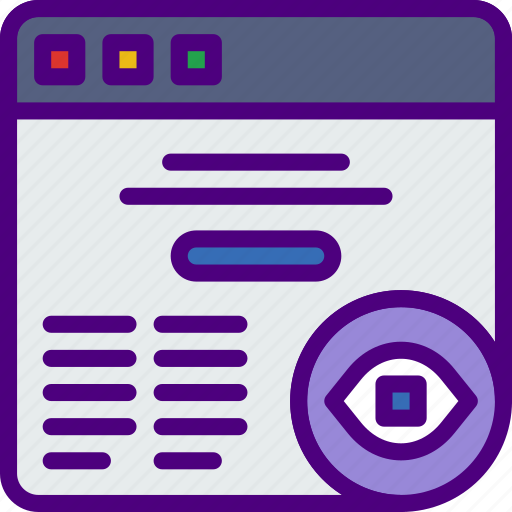 action, app, browser, hide, interaction, interface icon