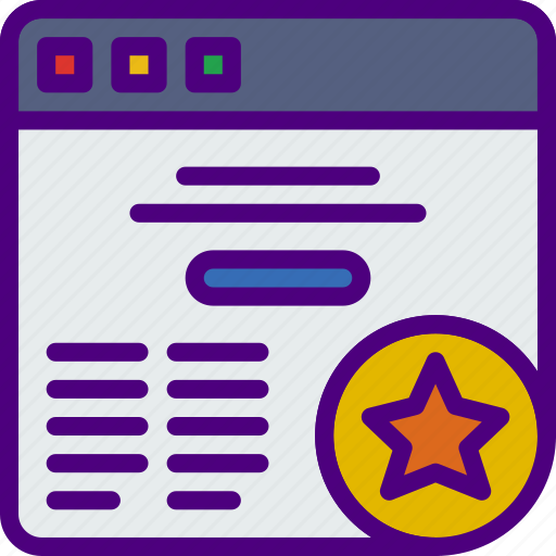action, app, browser, favorite, interaction, interface icon