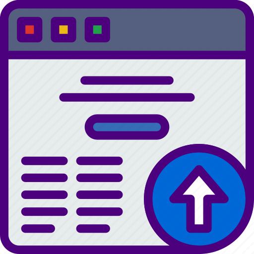 action, app, browser, interaction, interface, upload icon