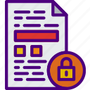 action, app, file, interaction, interface, lock icon