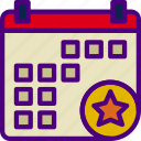 action, app, calendar, favorite, interaction, interface icon