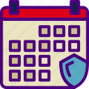 action, app, calendar, interaction, interface, security icon