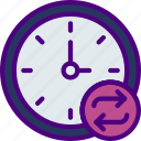 action, app, clock, interaction, interface, sync icon