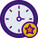 action, app, clock, favorite, interaction, interface icon