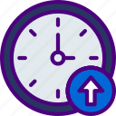 action, app, clock, interaction, interface, upload icon