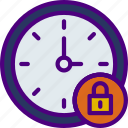 action, app, clock, interaction, interface, lock icon
