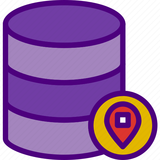 action, app, database, interaction, interface, location icon