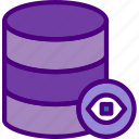 action, app, database, hide, interaction, interface icon