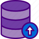 action, app, database, interaction, interface, upload icon