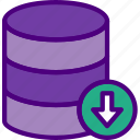 action, app, database, download, interaction, interface icon