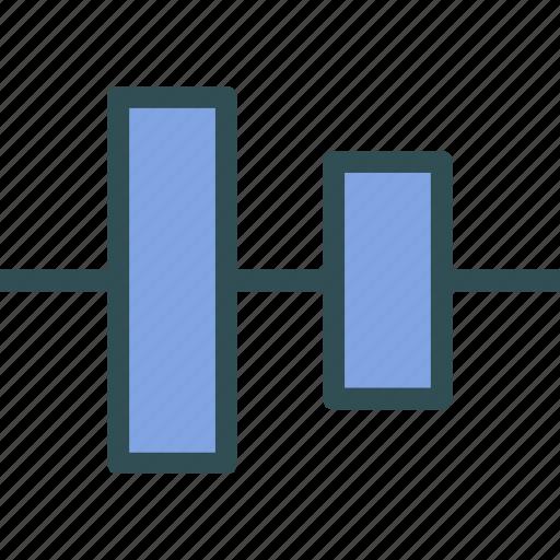 align, arrange, center, circle, sign, vertical icon