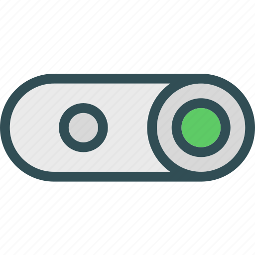 buttons, press, slide, switch icon