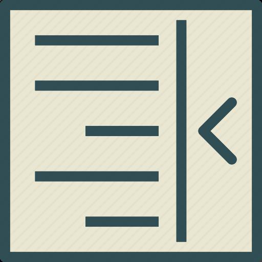 allign, arrange, editleft, intend, text, write icon
